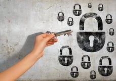 Schlüssel zum Problem Stockfotos