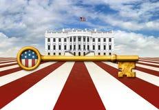 Schlüssel zum Weißen Haus Stockbild