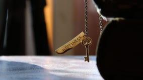 Schlüssel zur Glückidee stock footage