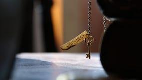 Schlüssel zur Glückidee stock video