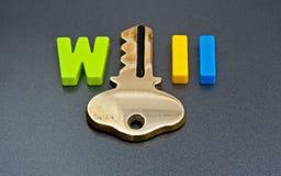 Schlüssel zur Herstellung eines Willen Lizenzfreie Stockbilder