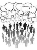 Schlüsselfigurmitteabbildung in den Gruppenfirmaleuten stock abbildung