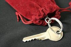 Schlüsselgeschenk Stockbild