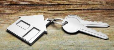 Schlüsselhauswohnung Vektor Abbildung