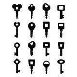 Schlüsselikone Lizenzfreies Stockfoto