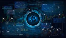 Schlüsselleistungs-Indikator KPI stock abbildung