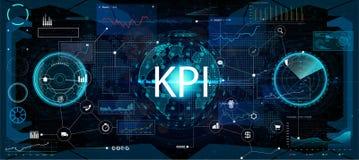 Schlüsselleistungs-Indikator KPI und Geschäft Analytics BA vektor abbildung