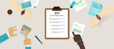 Schlüsselleistungsindikatorgeschäftskonzept-Bewertungsstrategie-Planmaßnahme Stunde Kpi Lizenzfreie Stockfotografie