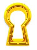 Schlüsselloch. 3d Lizenzfreies Stockbild