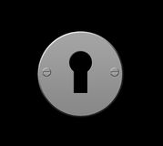 Schlüsselloch stock abbildung