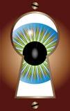 Schlüsselloch-Auge Stockfotografie