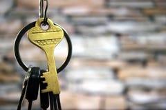Schlüsselloch mit Bündel Stockbilder