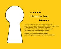 Schlüsselloch mit Raum für Text Das Konzept von geheimen, privaten Informationen, privater Zugangs-LOGON mit Passwortschlüssel Ve vektor abbildung