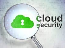Schlüsselloch-und Wolken-Sicherheit Lizenzfreie Stockfotos