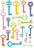 Schlüsselmuster Stockbild