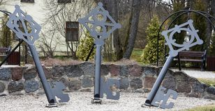 Schlüsselquadrat in Sigulda, Nationalpark Gauja Stockbild