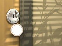 Schlüsselring für Meldung stock abbildung