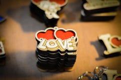 Schlüsselring für Valentinsgruß ` s Tag Stockfotos