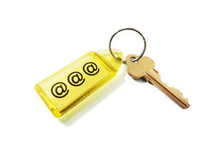 Schlüsselring mit Internet-Symbol stockfoto