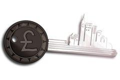 Schlüsselring mit London-Stadtbild Lizenzfreie Stockbilder