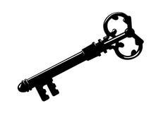 Schlüsselschattenbild stock abbildung