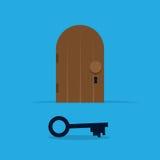 Schlüsseltür Stockbilder