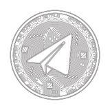 Schlüsselwährungsgramm-Schwarzweiss-Symbol Stockbild