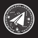 Schlüsselwährungsgramm-Schwarzweiss-Symbol Stockfotografie