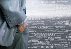 Schlüsselwörter des Geschäfts Stockfoto