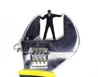Schlüsselzerquetschung lizenzfreies stockfoto