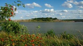 Schlabendorf sjö, landskap i Lusatia stock video