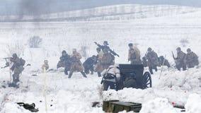 Schlachtfeld während des Militär-historischen Festivals stockfotos