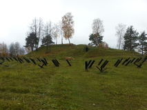 Schlachtfeld in Weißrussland nach dem Zweiten Weltkrieg Lizenzfreies Stockbild