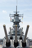 Schlachtschiff USS Wisconsin Lizenzfreie Stockfotos
