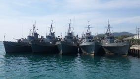 Schlachtschiffe Stockfotografie