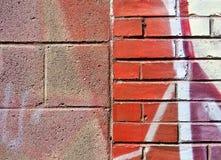 Schlackenbetonblock und Ziegelstein Lizenzfreies Stockbild