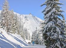 schladming σκι θερέτρου της Αυστ australites Στοκ Εικόνα