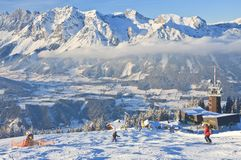 schladming σκι θερέτρου της Αυστ australites Στοκ εικόνα με δικαίωμα ελεύθερης χρήσης