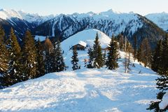 Schladming, alpi austriache Fotografia Stock