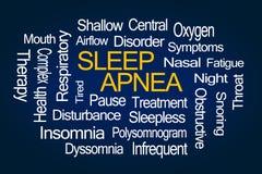 Schlaf Apnea-Wort-Wolke Lizenzfreie Stockbilder