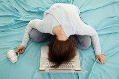 Schlaf auf Computer Stockfotos