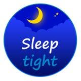 Schlaf fest lizenzfreie abbildung