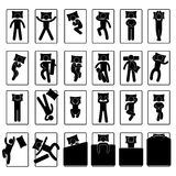 Schlaf-Schlafenstellung-Art-Lage-Methoden-Bett Lizenzfreie Stockbilder