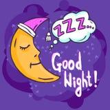 Schlaf-Zeit-Illustration Stockbild