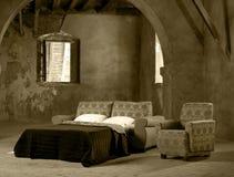 Schlafcouch und Lehnsessel Lizenzfreie Stockfotografie