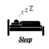 Schlafdesign Lizenzfreies Stockbild