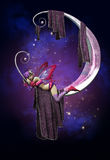 Schlafen auf dem Mond vektor abbildung