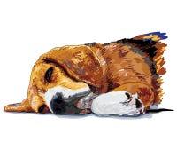 Schlafen Beagle_Vector Stockbilder