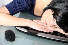 Schlafen bei der Arbeit Lizenzfreie Stockfotografie