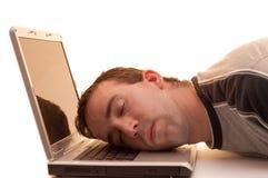 Schlafen bei der Arbeit Lizenzfreies Stockbild